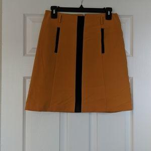 High waisted deep yellow skirt